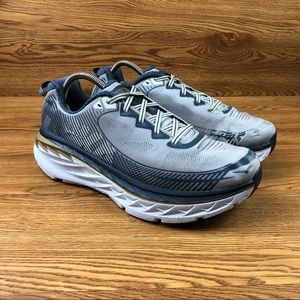 Hoka One One Bondi 5 Silver Trail Running Shoes